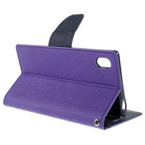 Mercur peněženkové pouzdro na Sony Xperia Z5 - fialové - 5
