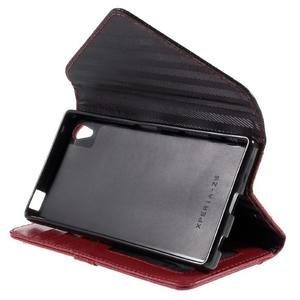 Stylové peněženkové pouzdro Sony Xperia Z5 - červené - 5