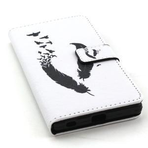Cross peněženkové pouzdro na Sony Xperia Z5 - ptačí peříčka - 5