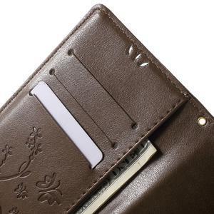Butterfly PU kožené pouzdro na Sony Xperia Z5 - coffee - 5