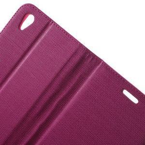 Grid PU kožené pouzdro na Sony Xperia Z5 - rose - 5