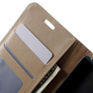 Grid PU kožené pouzdro na Sony Xperia Z5 - champagne - 5