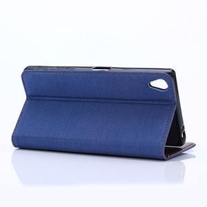Stylové jeans pouzdro na mobil Sony Xperia Z5 - modré - 5