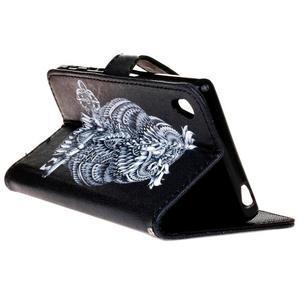 Koženkové pouzdro na mobil Sony Xperia Z5 - sova - 5