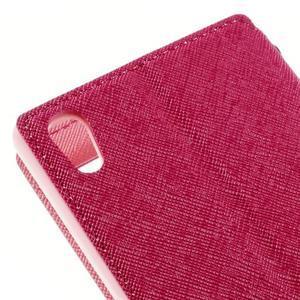 Diary pouzdro s okýnkem na Sony Xperia Z5 - rose - 5