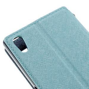 Diary pouzdro s okýnkem na Sony Xperia Z5 - světlemodré - 5