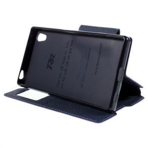Diary pouzdro s okýnkem na Sony Xperia Z5 - fialové - 5