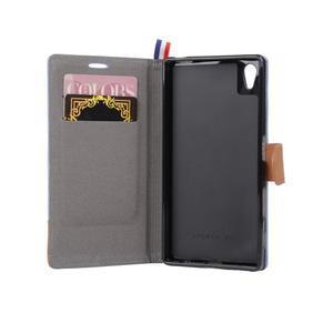 Cloth textilní/koženkové pouzdro na Sony Xperia Z5 - černé - 5