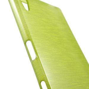 Brush lesklý gelový obal na Sony Xperia Z5 - zelený - 5