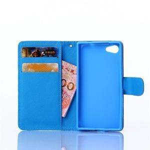 Sand pouzdro na mobil Sony Xperia Z5 Compact - modrý chevron - 5