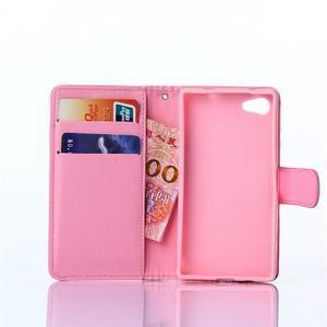Sand pouzdro na mobil Sony Xperia Z5 Compact - retro květiny - 5