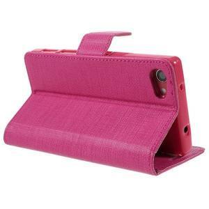 Grid peněženkové pouzdro na mobil Sony Xperia Z5 Compact - rose - 5