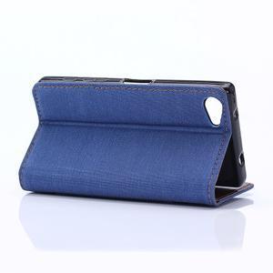 Stylové jeans pouzdro na mobil Sony Xperia Z5 Compact - modré - 5
