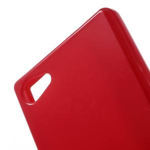 Solid lesklý gelový obal na mobi Sony Xperia Z5 Compact - červený - 5