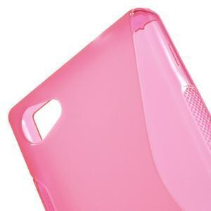 S-line gelový obal na Sony Xperia Z5 Compact - rose - 5