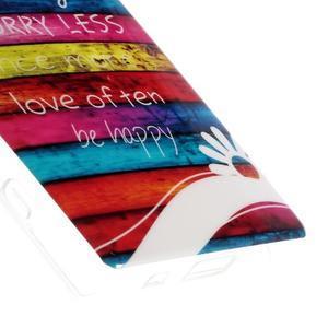 Gelový obal na mobil Sony Xperia Z5 Compact - barvy dřeva - 5
