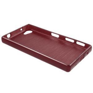 Brush gelový obal na Sony Xperia Z5 Compact - červený - 5