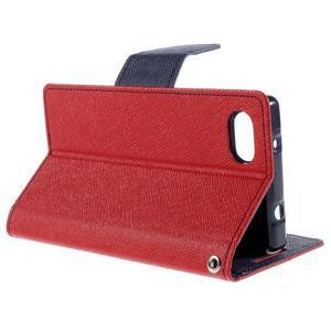 Fancy PU kožené pouzdro na Sony Xperia Z5 Compact - červené - 5
