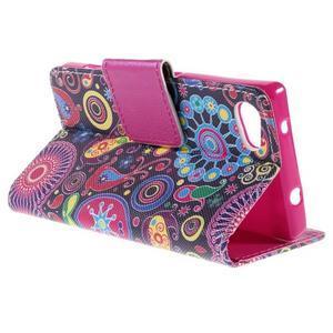 Diary peněženkové pouzdro na Sony Xperia Z5 Compact - flower - 5