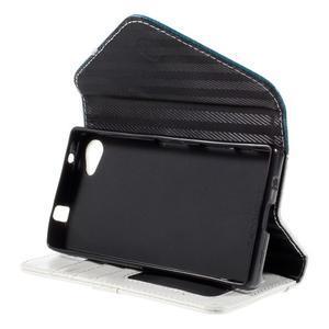 Stylové peněženkové pouzdro na Sony Xperia Z5 Compact - modré - 5