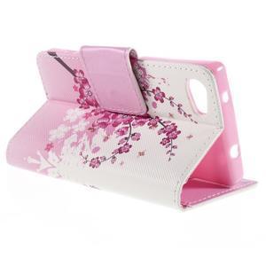 Diary peněženkové pouzdro na Sony Xperia Z5 Compact - květoucí větvička - 5
