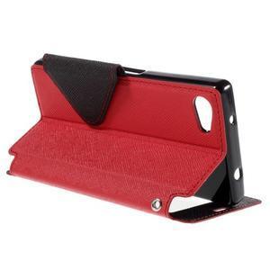 Pouzdro s okýnkem na Sony Xperia Z5 Compact - červené - 5