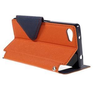 Pouzdro s okýnkem na Sony Xperia Z5 Compact - oranžové - 5