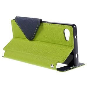Pouzdro s okýnkem na Sony Xperia Z5 Compact - zelené - 5