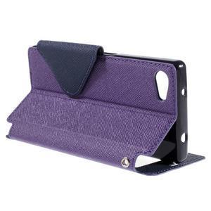 Pouzdro s okýnkem na Sony Xperia Z5 Compact - fialové - 5