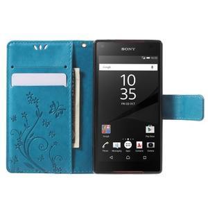 Butterfly peněženkové pouzdro na Sony Xperia Z5 Compact - modré - 5