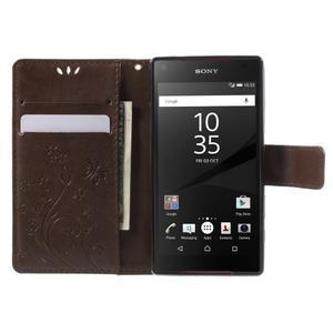Butterfly peněženkové pouzdro na Sony Xperia Z5 Compact - coffee - 5