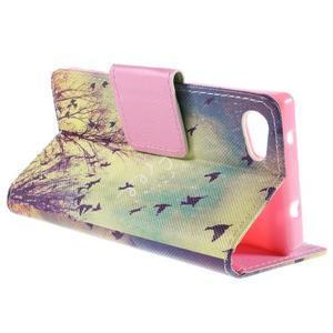Diary peněženkové pouzdro na Sony Xperia Z5 Compact - ptáčci - 5