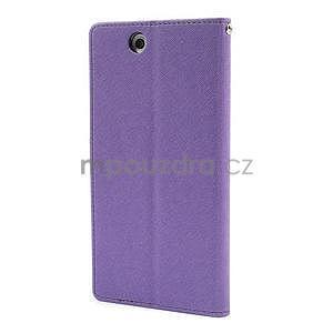Peněženkové PU kožené pouzdro na Sony Z Ultra - fialové - 5