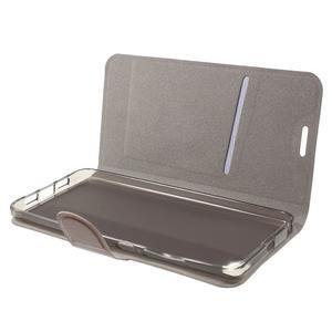 Horse peněženkové pouzdro na mobil Xiaomi Mi5 - hnědé - 5