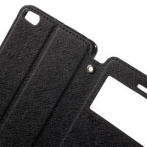 Diary view peněženkové pouzdro na Xiaomi Redmi 3 - černé - 5