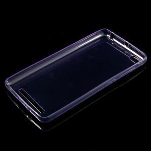 Ultratenký slim gelový obal na mobil Xiaomi Redmi 3 Pro - fialový - 5