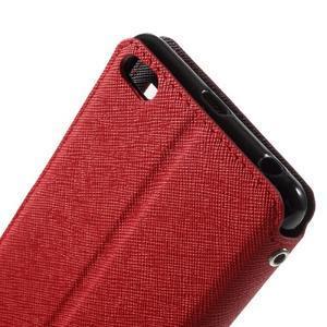 Diary view peněženkové pouzdro na Xiaomi Redmi 3 - červené - 5