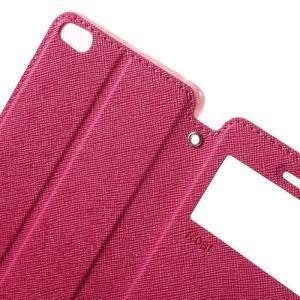 Diary view peněženkové pouzdro na Xiaomi Redmi 3 - rose - 5