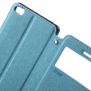 Diary view peněženkové pouzdro na Xiaomi Redmi 3 - světlemodré - 5