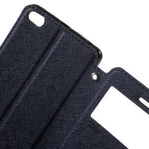 Diary view peněženkové pouzdro na Xiaomi Redmi 3 - tmavěmodré - 5