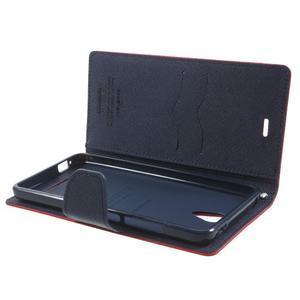 Goos PU kožené pouzdro na Xiaomi Redmi Note 2 - červené - 5