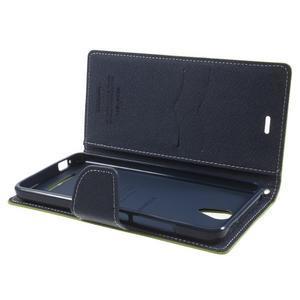 Goos PU kožené pouzdro na Xiaomi Redmi Note 2 - zelené - 5