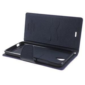 Goos PU kožené pouzdro na Xiaomi Redmi Note 2 - fialové - 5