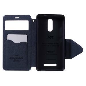 Diary pouzdro s okýnkem na mobil Xiaomi Redmi Note 3  - fialové - 5