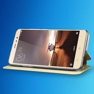 Vintage PU kožené pouzdro na mobil Xiaomi Redmi Note 3 - zlaté - 5