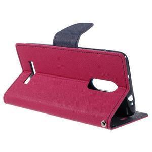 Wallet PU kožené pouzdra na Xiaomi Redmi Note 3 - rose - 5