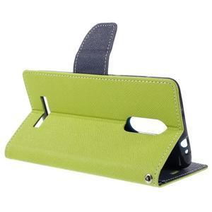 Wallet PU kožené pouzdra na Xiaomi Redmi Note 3 - zelené - 5