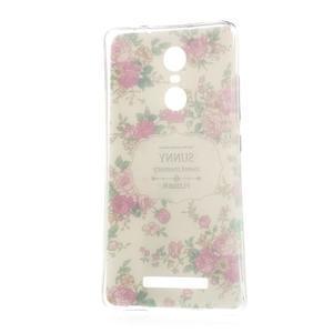 Softy gelový obal na Xiaomi Redmi Note 3 - květiny - 5