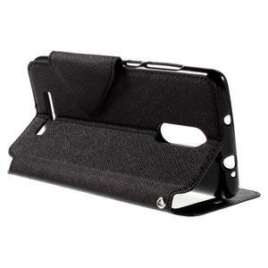 Diary pouzdro s okýnkem na mobil Xiaomi Redmi Note 3  - černé - 5