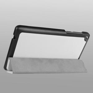 Trifold polohovatelné pouzdro na Lenovo Tab 2 A7-20 - bílé - 5